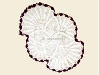 CROCHET OVAL SHAPE TEA TABLE MAT-NC574