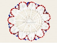 CROCHET ROUND CENTER TABLE MAT-NC575